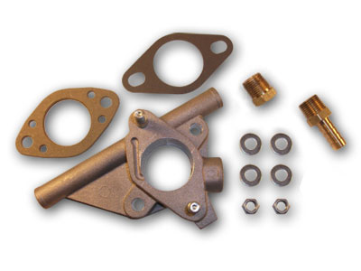 63-68 Ford & Mercery Carburetor Spacer Kit, Deluxe, 6 Cylinder (Before 1/15/68)